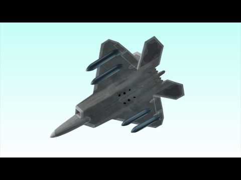 F-22 Raptor stealth fighter on its first combat mission against Islamic State