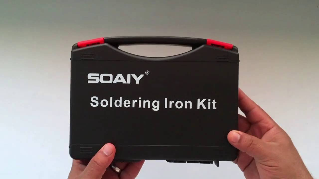 soaiy 60w electric soldering iron kit unboxing youtube. Black Bedroom Furniture Sets. Home Design Ideas