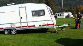 Camper Trolley ct2500 in action on gras.