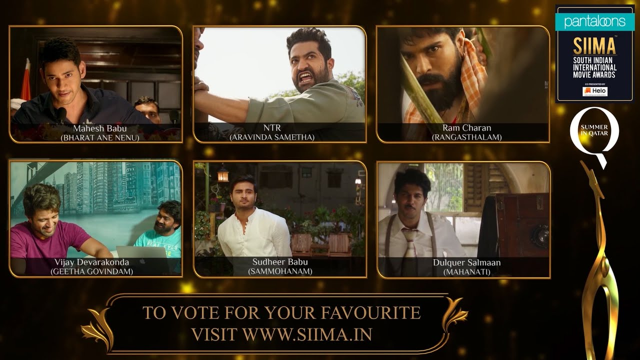 Pantaloons SIIMA 2019 | Best Actor In A Leading Role Nominees | Telugu