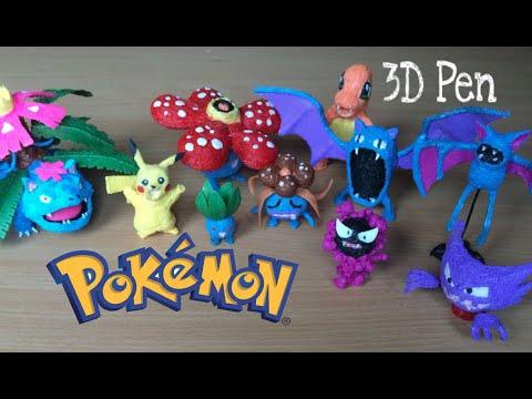 Making  Pokémon figures with 3D Pen | Oddish, Gloom, Vileplume, Zubat, Golbat, Gastly, Haunter...