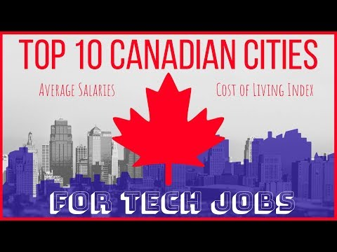 🇨🇦 Top 10 Canadian Cities For Tech Jobs (with Avg Salaries)