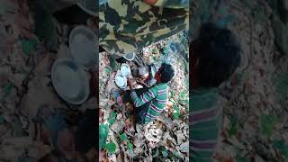 Picnic at jungle (cooking chicken)