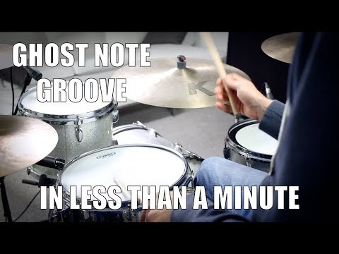 Ghost Note Groove in less than a Minute - Daily Drum Lesson