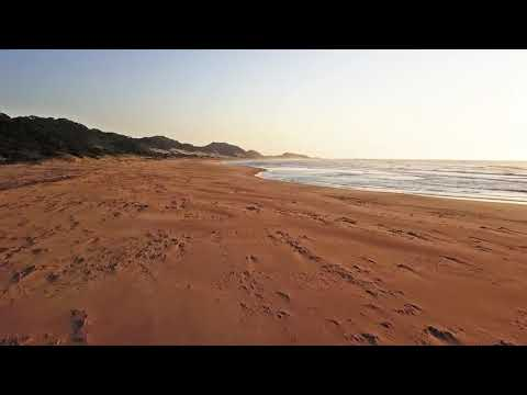 Drone flying over Deserted Beach | Royalty Free HD Travel Vlog & Nature Stock Footage