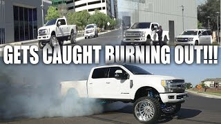 2017 F250 GETS CAUGHT BURNING OUT 26X16