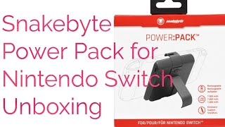 Snakebyte Power Pack for Nintendo Switch - Unboxing and Review