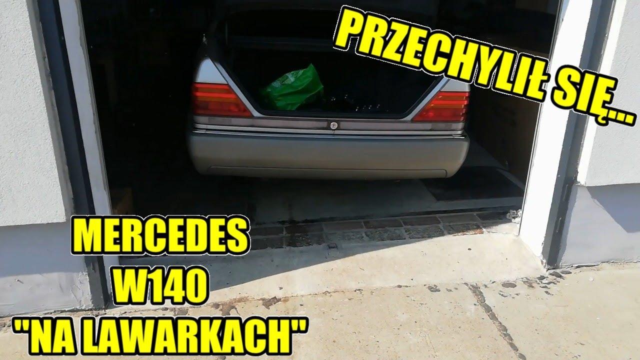 Mercedes W140 - Staszek Stabilizowany na Lewarkach - Bardzo Mnóstwo Roboty oraz Ogrodowe wieści!