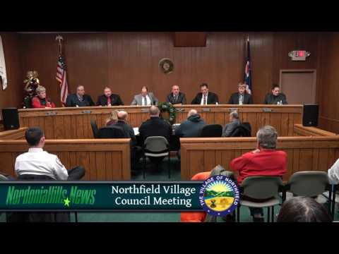 Northfield Village City Council Meeting 12-14-16