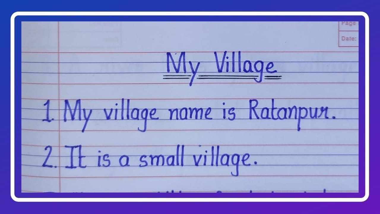 Download 10 Lines on My Village in English/My Village Essay