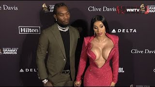 Cardi B and Offset arrive at Clive Davis 2020 Pre-Grammy Gala