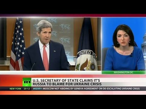 Kerry attacks Russia, ignores US role in Ukraine