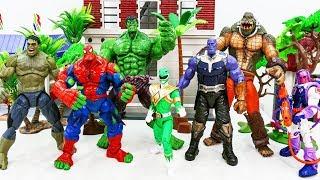 Marvel Super Hero Spider Hulk, Hulk Transform vs Thanos VIllains Army~! GO GO GO!!! #Toysplaytime