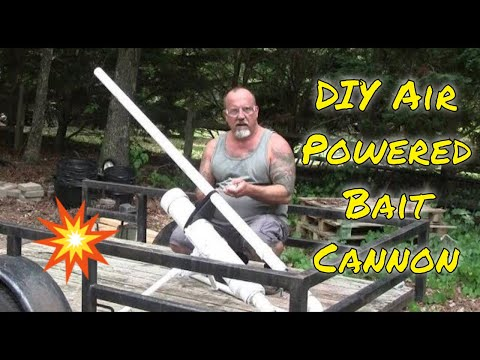 How To Build An Air Power Fish Bait Launcher, Spud Gun - DIY Surf Fishing Air Cannon