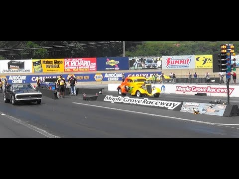 Elims#1 pt 2 Mid Atlantic Street Outlaws Menard Chevy  Maple Grove 2017