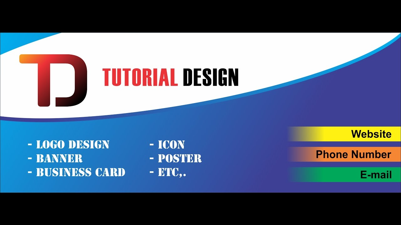 simple banner design with corel draw youtube
