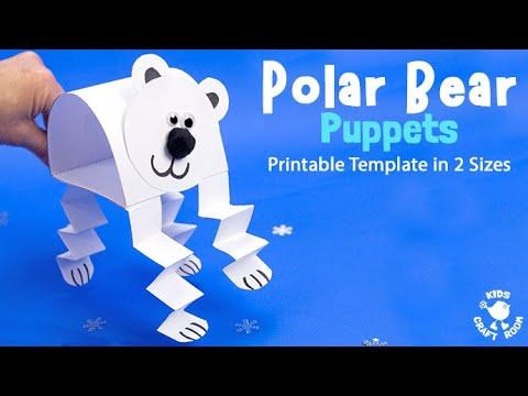photograph relating to Polar Bear Printable referred to as Printable Polar Undergo Puppets