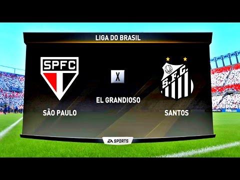 SÃO PAULO X SANTOS ( 1080p / 60FPS )  FIFA 17