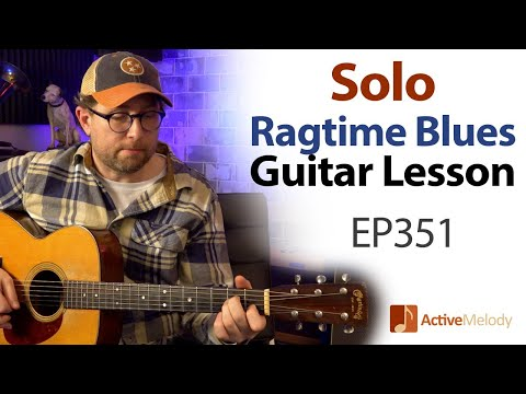 Ragtime Blues Guitar that you can play by yourself (No jam track needed) – Blues Guitar Lesson EP351