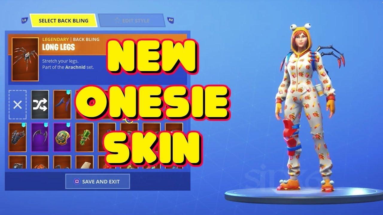 New Female Pyjama Onesie Skin In Game Fortnite Youtube
