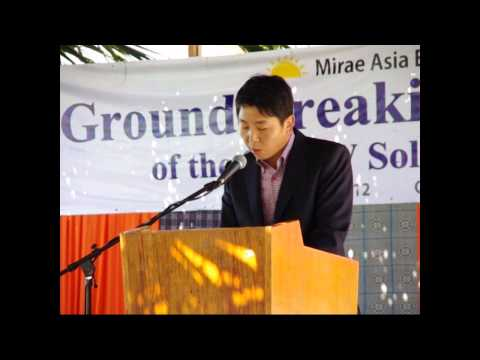 Solar Power Farm Groundbreaking ceremony with Mirae Asia Ene