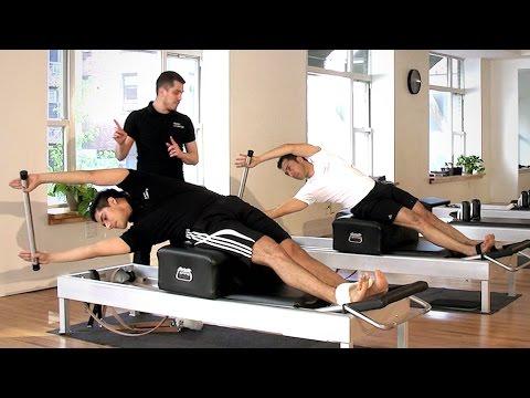 Rutina de ejercicios pilates reformer