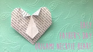 Necktie Heart Origami - Perfect For Father