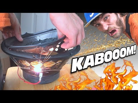 SPEAKER BLOWOUT GOES WRONG... Blowing Up a Ported POLK AUDIO Home Theather Subwoofer on 500 WATTS