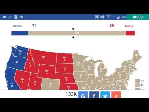 Presidential Polls November 4th Electoral Map