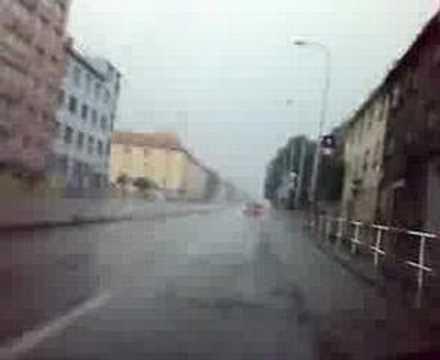 Přívalový déšť v Praze: 2 10. 8. 2007