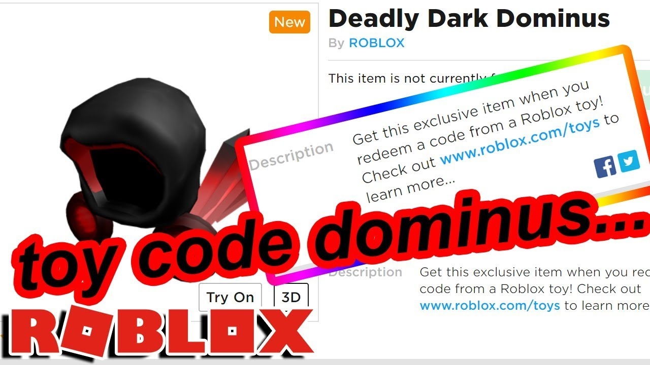 New Roblox Toys Codes Roblox Made A New Dominus But Its Only From Toy Codes Why Youtube