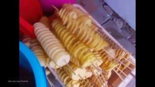 Alat UNTUK membuat kentang spiral & Cara memakainya