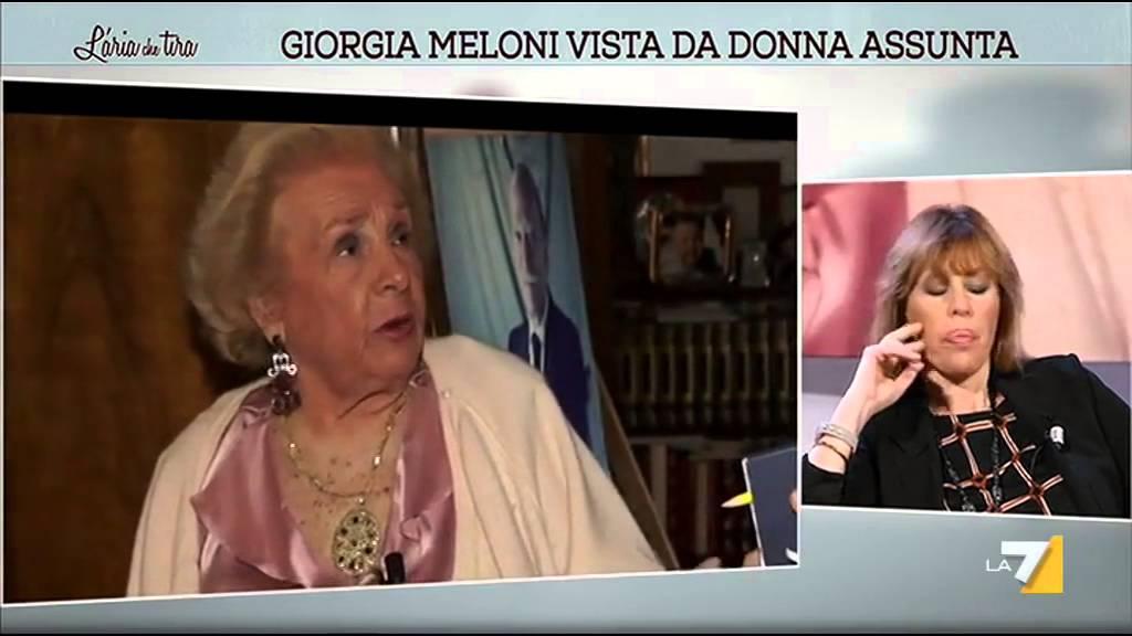 Giorgia Meloni Vista Da Donna Assunta Youtube