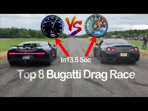 8 Best Drag Race of Bugatti Cars | Bugatti Chiron vs Bugatti Veyron | Veyron vs Koenigsegg Regera