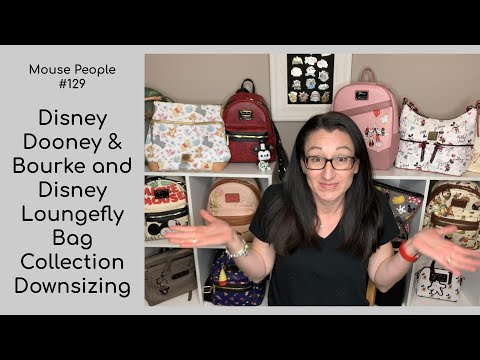 Disney Dooney & Bourke And Disney Loungefly Bag Collection Downsizing | Disney Minimizing #129