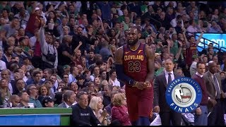 LeBron James Turns Into Micheal Jordan&Shuts Up Boston Crowd!