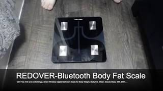 REDOVER Bluetooth Body Fat Scale Review, Great Scale, Smart App Integration is Amazing!