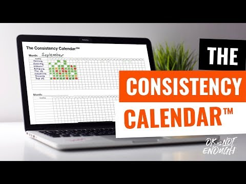 Have You Tried The Consistency Calendar? 0