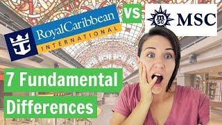 Royal Caribbean vs MSC: 7 Fundamental Differences