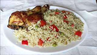 Easy way to put together light green vegetable rice (How to make vegetable rice )