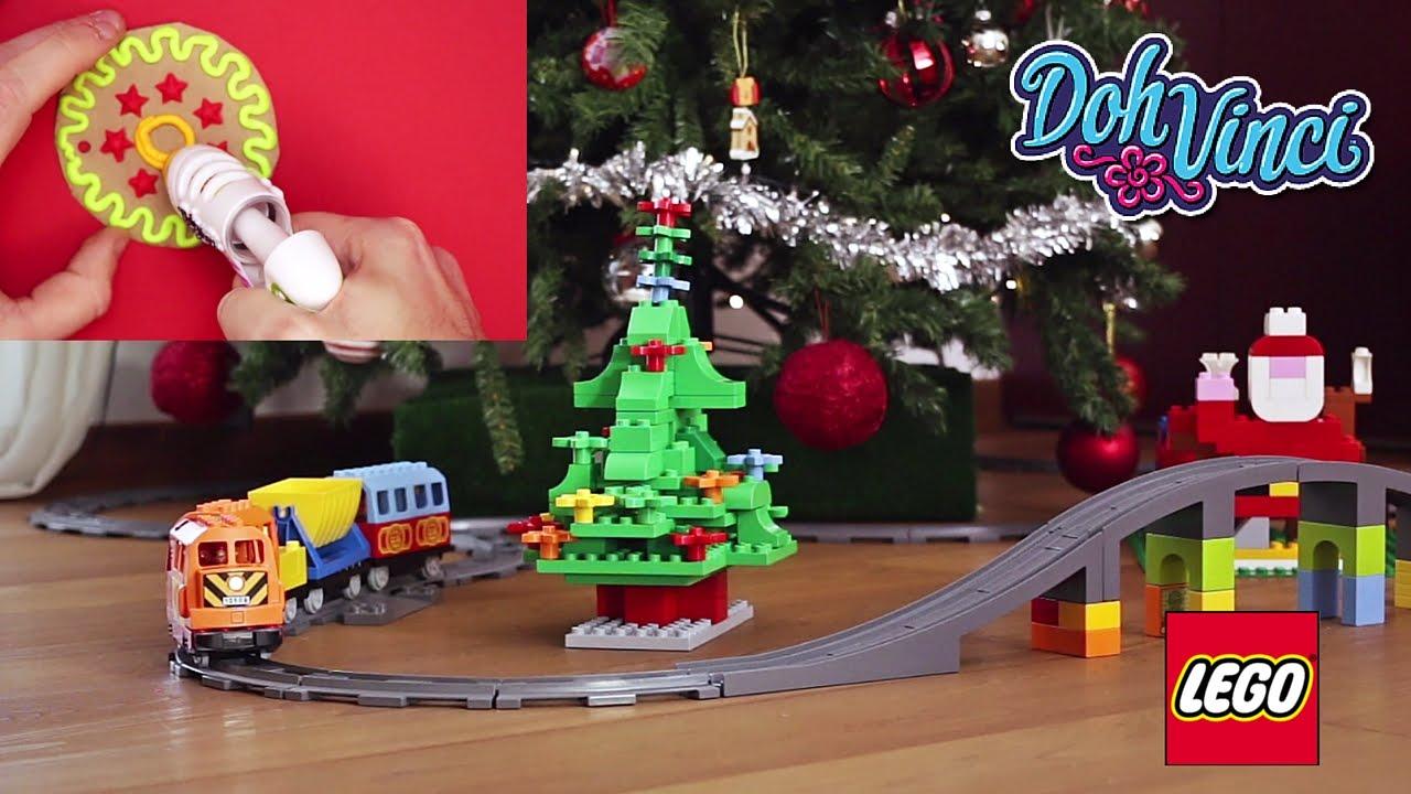 Decorazioni Natalizie Youtube.Decorazioni Natalizie Con Doh Vinci E Lego Auguri Di Natale Youtube