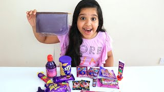 تحدي الاكل  البنفسجي  !! Purple food challenge