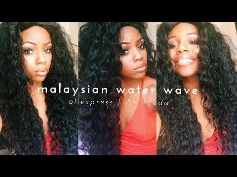 ALI MODA MALAYSIAN WATERWAVE   ALIEXPRESS HAIR REVIEW