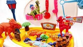Learn Names Of Dinosaurs With Baby Shark Playset! Jurassic World2 공룡메카드 아기상어 낚시놀이