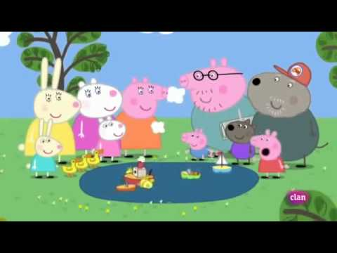 Barcos en el estanque peppa pig en espa ol youtube for En youtube peppa pig