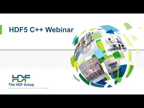 HDF5 C++ Webinar presented by The HDF Group - YouTube