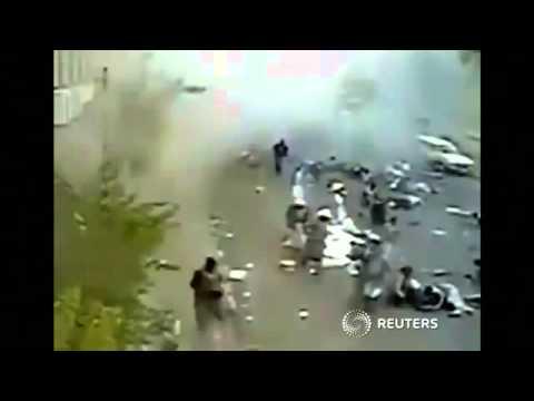 Moment Of Sanaa Suicide Blast Caught On Camera