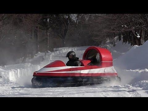 ホバークラフト、雪上走行が弱点