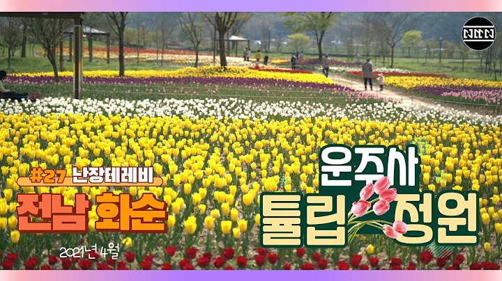 난장테레비 - #27 - 전남 화순 - 운주사 튤립 정원 | Mavic Air2