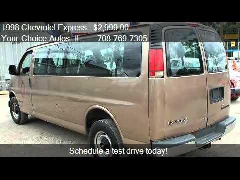 1998 Chevrolet Express G3500 Cargo Van  for sale in Posen  YouTube